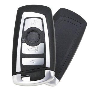 Image 4 - Guscio chiave intelligente di ricambio a 4 pulsanti per BMW CAS4 F 3 5 7 serie E90 E92 E93 X5 F10 F20 F30 F40 custodia chiave per auto remota