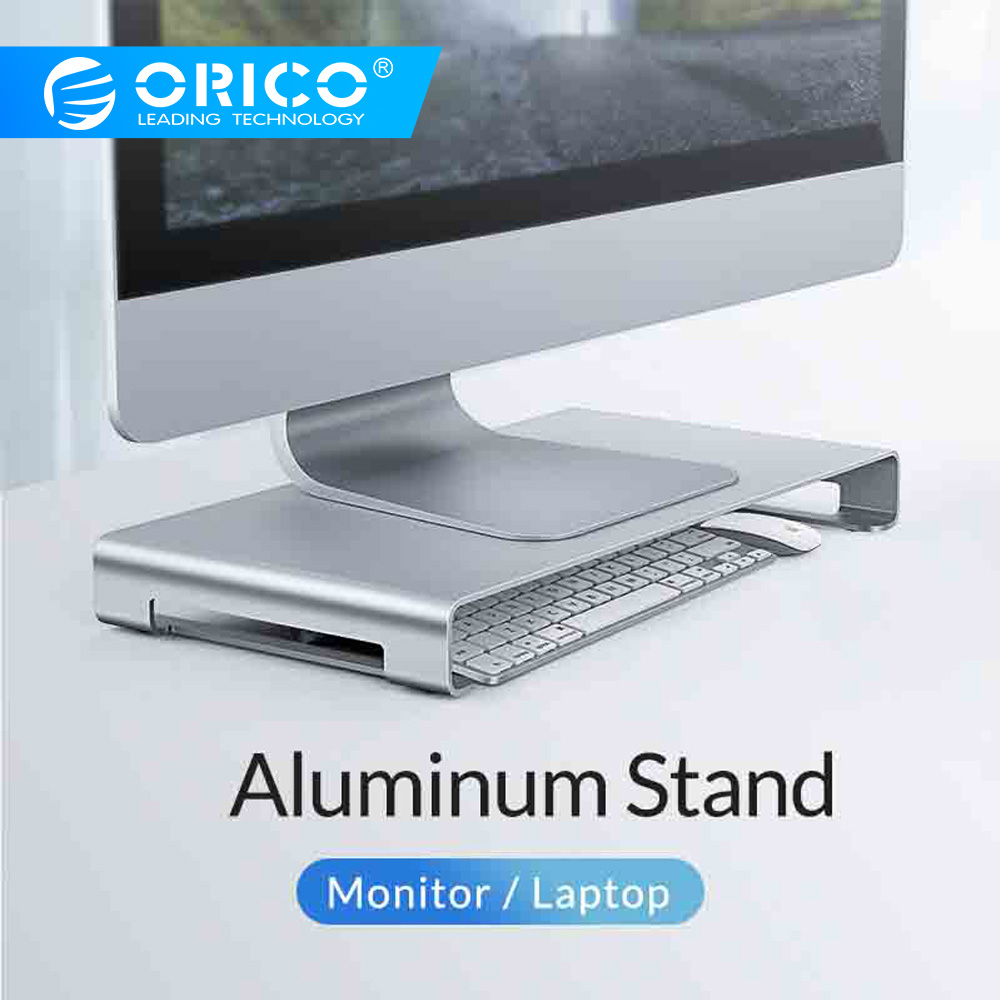 ORICO Portable Aluminum Monitor Stand Computer Universal Metal Desk Stand Desktop Stand For IMac MacBook Lenovo Dell