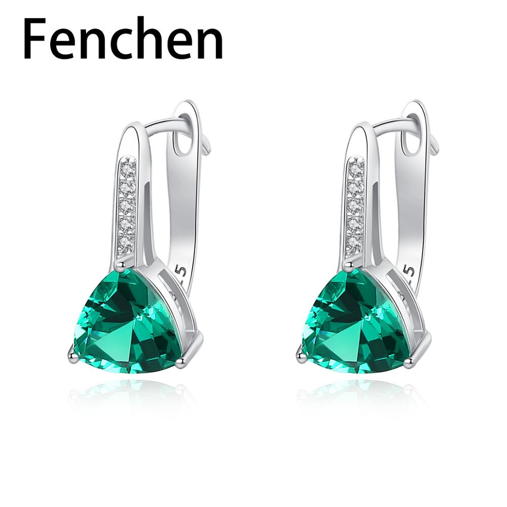 Fenchen Stud-Earrings Elegant Jewellery-Anniversary Topaz Silver Solid Women for Gemstone