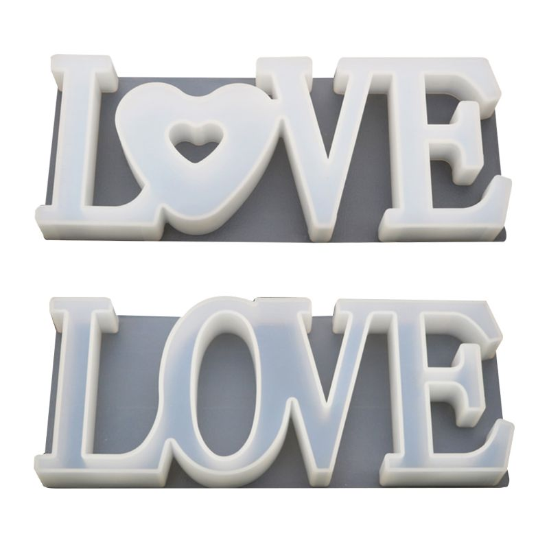 Handmade Pendant Craft DIY Crystal Epoxy Silicone Molds Love Heart Shape Mold High Mirror Molds