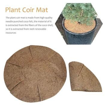 Coconut Mat Natural Coconut Coco Liner Coconut Palm Carpet For Wall Hanging Baskets Coconut Fiber Mat For Garden Flower Pot фото