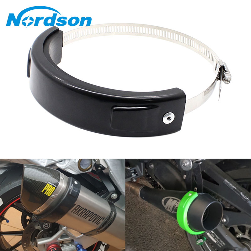 Motorcycle Exhaust Clamp 100 160Mm Round Universal Motorcycle Exhaust Pipe Clip Stainless Steel Oval Motorcycle Exhaust Muffler in Exhaust Exhaust Systems from Automobiles Motorcycles