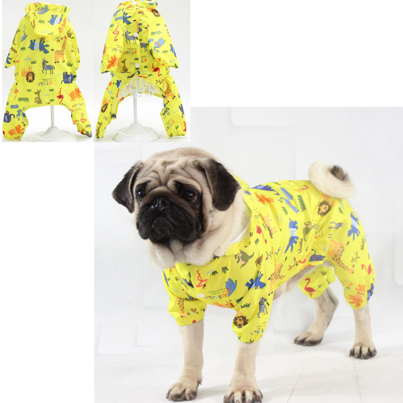 Pet Raincoat For Large Dogs Waterproof Dog Rain Coat Jumpsuit For Small Dogs French Bulldog Teddy Bear Big Dog Coat With Hooded