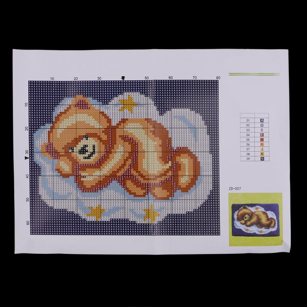 Bear Latch Hook Rug Kits Crochet Needlework Crafts With Instruction For Kids Latch Hook Aliexpress