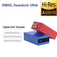SMSL Sanskrit 10th SK10 Hifi Digital Dac Decoder Audio AK4490 PCM384 XMOS Decodificador DSD USB Optical  Support  DSD256 gustard dac x20pro dual es9028pro xmos dsd dop 384k professional dac decoder dsd256 coaxial optical aes ebu dac x20 pro
