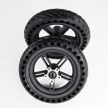 2019 스쿠터 샤오미 Mijia M365 용 후방 휠 허브 8.5 인치 댐핑 솔리드 타이어 중공 비 공압 타이어 원래 공장