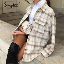 Camicia calda autunnale a maniche lunghe con risvolto a maniche lunghe a maniche lunghe a maniche lunghe a quadri Casual da donna 2020