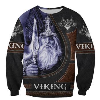 Viking Odin 3D Printed Mens Hoodie Streetwear hoodies Sweatshirt Casual Jacket Tracksuits Hoodie Halloween cosplay costumes 2