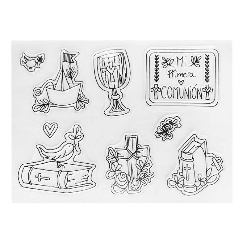 Spanish Bible Silicone Clear Seal Stamp DIY Scrapbooking Embossing Photo Album Decorative Paper Card Craft Art Handmade Gift