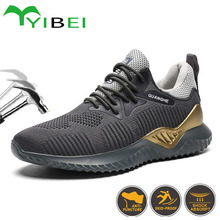 Work-Boots Safety-Shoes Protective-Indestructible Steel Men's Fashionable Toe-Cap