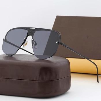 Gafas de sol sin montura para mujer, Gafas de sol clásicas de...
