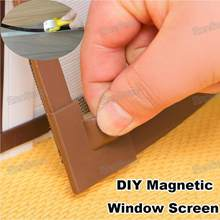 Adjustable DIY Customize Magnetic Window Screen windows for Motorhomes Removable Washable Invisible Fly Mosquito Screen Net Mesh(China)