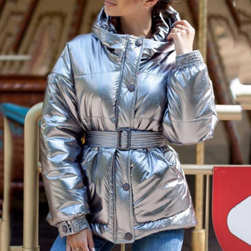 Sfit Frauen Winter Glänzend Unten Parka frauen Wasserdichte Mantel Feste jacke große größe Lose Winter Warm Dicken Parka Frauen jacke