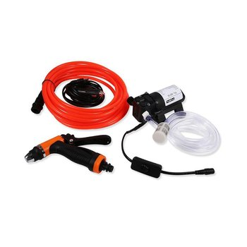 12V High Power Electric Car Wash Cleaning Machine Water Pump Nozzle Cleaning Kit Car Wash Cleaner Easy and Portable image