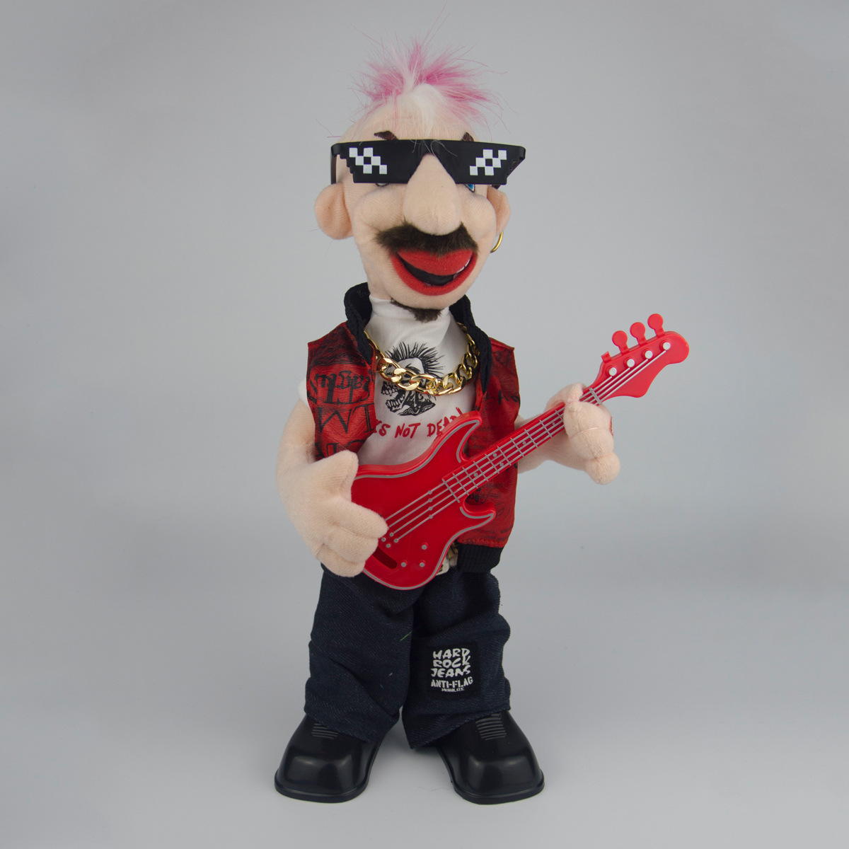 Singing Dancing Bass Punk Hip Hop Funny Creative Electric Toys Plush Toys