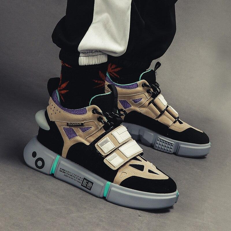 2018 Hommes de Spike Chaussures Low Top Géométrique En Forme de Dentelle up Sneaker Bout rond Denim Tissu Sapatos Hommes Casual Chaussures Plus La Taille EU39 47 - 5