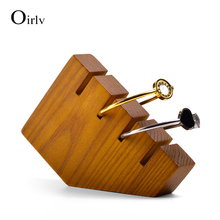 Oirlv Solid Wooden Jewelry Display 4 Ring Bracelet Display Holder Jewelry Stand Jewelry Organizer