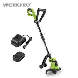 WORKPRO 18 V de litio de 2000 mAh sin cortadora de hierba, asas ajustables jardín herramientas de tiempo de carga 1 hora