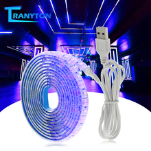 UV LED Strip Light 5V DC 2835 0.5M 1M 2M Waterproof Purple Ribbon Ultraviolet USB Rope Tape for DJ Fluorescence