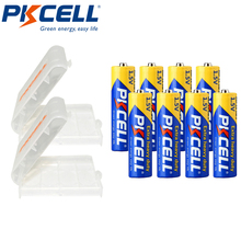 8Pcs PKCELL aa Battery Super Heavy Duty AA R6P UM3 MN1500 E91 1.5v Primary Batteries Packed With 2Piece Battery Box