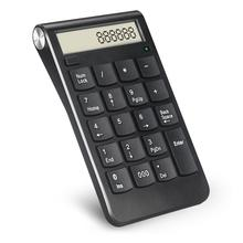 2.4g Digitale Display 19 Toetsen USB Aantal Toetsenbord Oplaadbare Draadloze Numerieke Smart Kantoorbenodigdheden