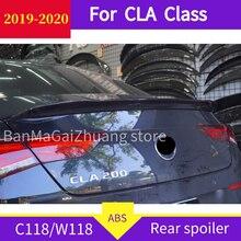 C118 Rear Spoiler For mercedes CLA Class W118 2019 2020  CLA250 CLA200 CLA220 ABS Spoiler Car Rear Wing  Rear Trunk Spoiler