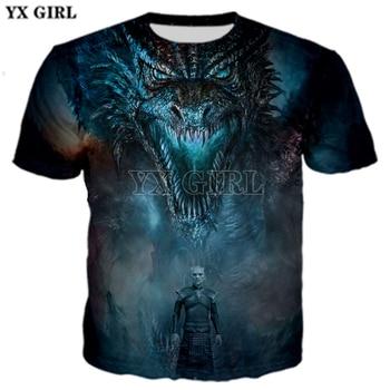 PLstar Cosmos Game of Thrones Dragon Playing Fire Cosplay Tees 3D Print t shirt/Hoodie/Sweatshirt Unisex Good Quality -8