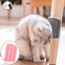Comb Self-Groomer Itching-Scratch Massage Pet-Brush Cat Catnip Corner Placed