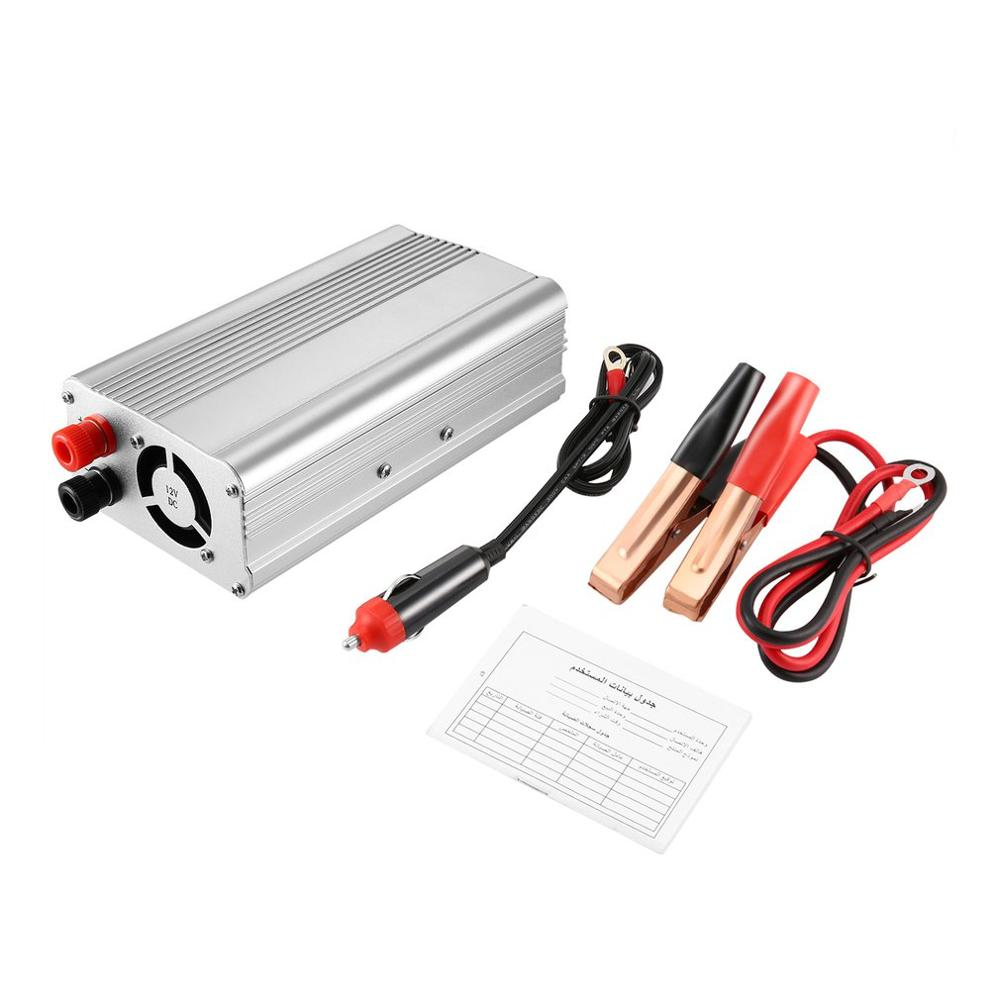 DC 12V To AC 220V Automobile <font><b>Inverter</b></font> Portable <font><b>1500W</b></font> Car Power Converter Professional Auto Transformer Car Accessories image