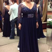 H Navy Blue Mother of the Bride Dresses