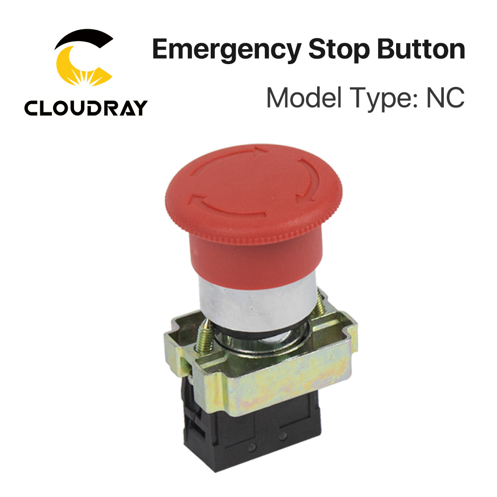 Cloudray Emergency Stop Button NC For CO2 Laser Engraving Cutting Machine