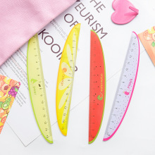 2020 new 1pcs Cute Fruits Style 15cm Multi-functional Ruler Square Ruler Cute Stationery Drawing Supplies