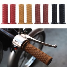 TOSPRA Motorcycle Universal 7/8 22MM Vintage Rubber Motorbike Handlebar Thruster Handle Bar End Grips 1 Pair( 2pcs)