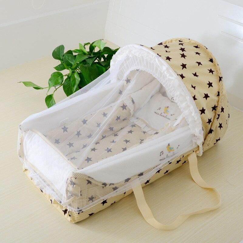 Longer Newborn Protable Baby Crib With Mosquito Net Carseat Baby Bassinet  Baby Nursery 0-18month