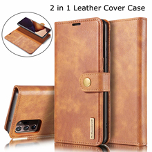 2 in 1 Cover For Samsung Galaxy M31S Real Flip Leather Case For Samsung A12 A32 A52 A72 A51 A71 Detachable Magnetic Wallet Bag