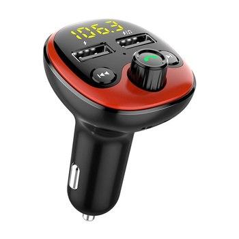 BT09 BT10 BT21 E5 T66 zestaw samochodowy odtwarzacz MP3 nadajnik FM Auto AUX bezprzewodowy samochód Modulator Radio USB ładowarka samochodowa pilot tanie i dobre opinie Weigav CN (pochodzenie) Plastic Bluetooth Car Kit