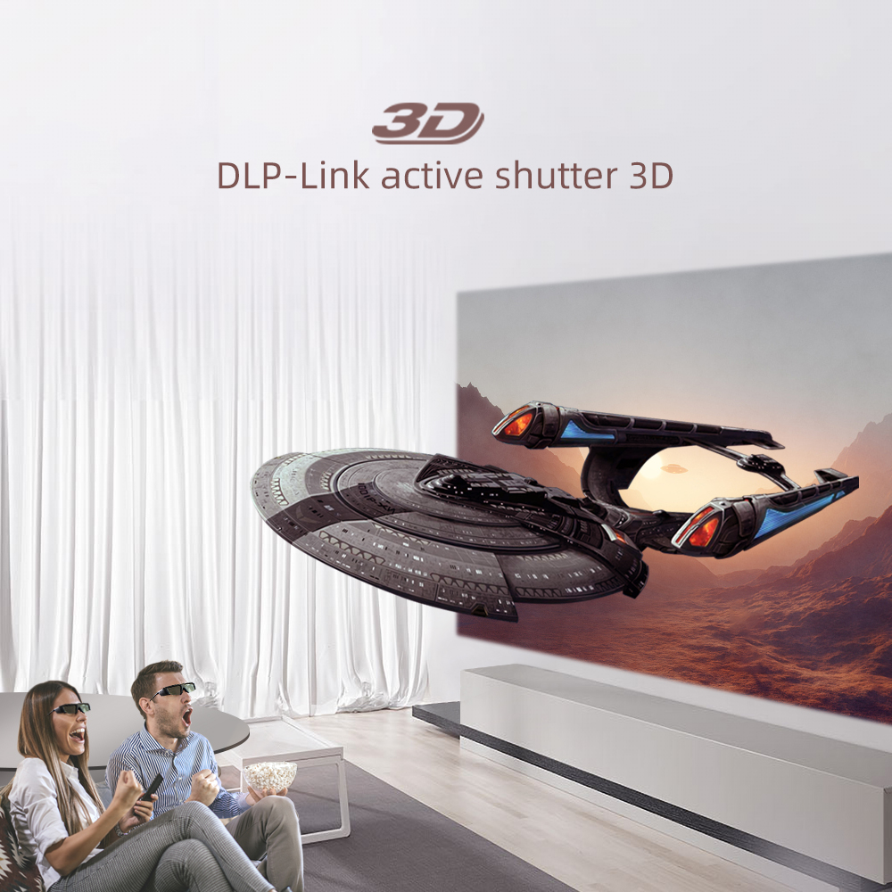 DealáBYINTEK GL1800 3D Glass, for 3D Projector P12 R19 R15 R9 K5, DLP-Link Active Shutter Business Meeting Short focus Cloud K5