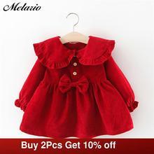 Melario Baby Girl Dress Long Sleeve Autumn Winter Dress 1 Year Birthday Princess Dresses Toddler Girls Christmas Clothes Vestido