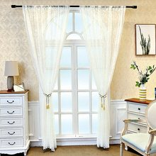 White Mosquito Net Lace Screen Curtains for Bedroom Sheer Transparent Delicate Window Tende M193C(China)