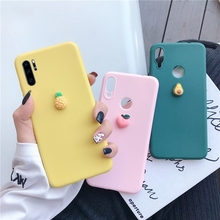 3D cute fruit silicone case on for huawei