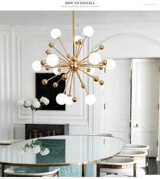Glass Led Lamp Modern Design Chandelier Ceiling Living Room Bedroom Kitchen Light Fixtures Decor Home Lighting G4 12 Lights 1