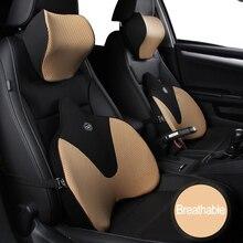 Assento de carro cabeça pescoço resto massagem travesseiro auto 4d respirável pescoço encosto de cabeça carro capa veicular travesseiro assento encosto de cabeça acessórios