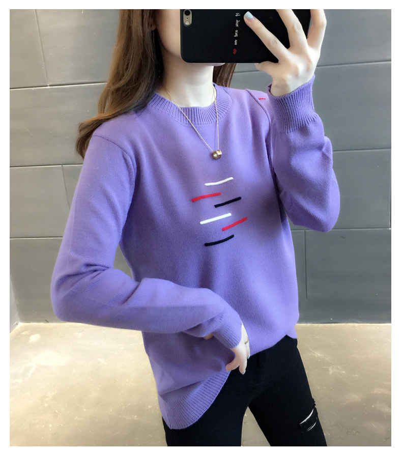 Sweaters women's 19 new fashion Korean loose autumn winter knitting bottoms wear Western clothes 18
