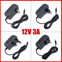 Controlador LED para tiras de luces, fuente de alimentación DC12V 3A, adaptador de corriente Led 3A, enchufe de alimentación AU, EU, UK, US