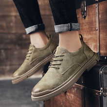 Mens Shoes Suede Fashion England Trend Casual Shoes