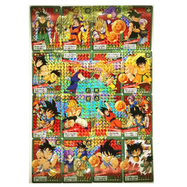 16pcs/set Reprint Dragon Z Super Saiyan Fight Card 15-16 Rounds Toys Hobbies Collectibles Game Collection Anime Cards