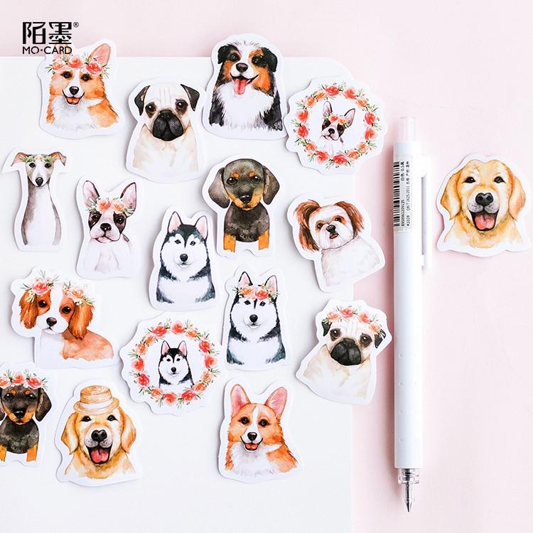 45 adet/grup sevimli köpek hayvan Sticker dekorasyon DIY Scrapbooking Sticker kırtasiye Kawaii günlüğü etiket etiket