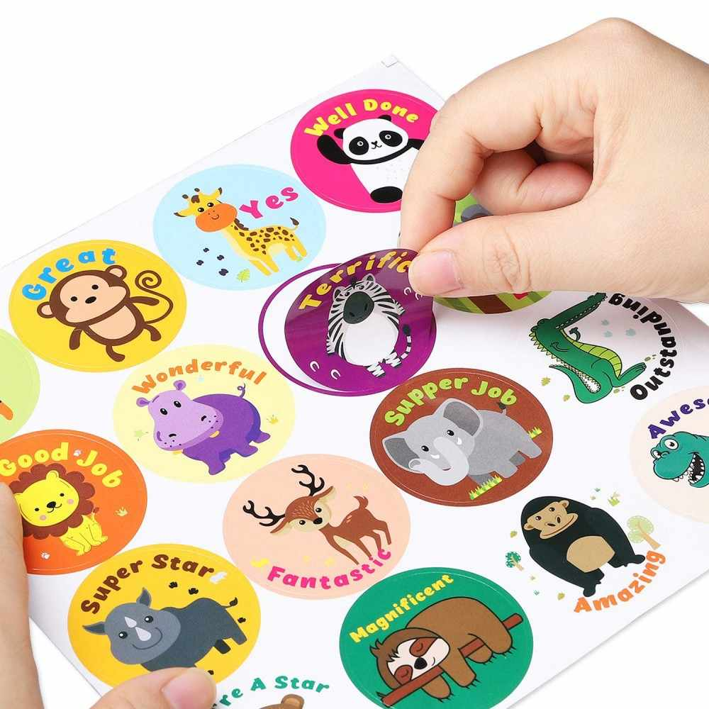 Children's lovely stickers, funny awards, expression stickers, creative teaching, press expression rewards stickers
