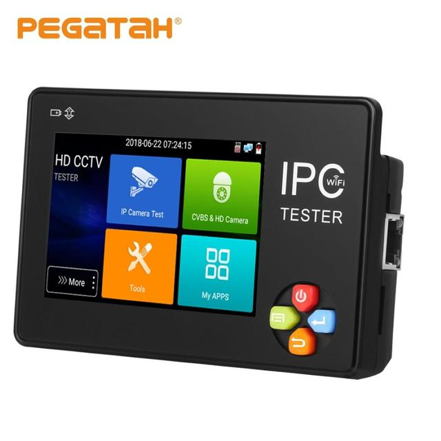 3,5 Zoll H.265 4K IP CCTV Tester Monitor IP AHD CVI TVI IP Kamera Tester ONVIF PTZ WIFI 12V1A ausgang Drahtlose WIFI video