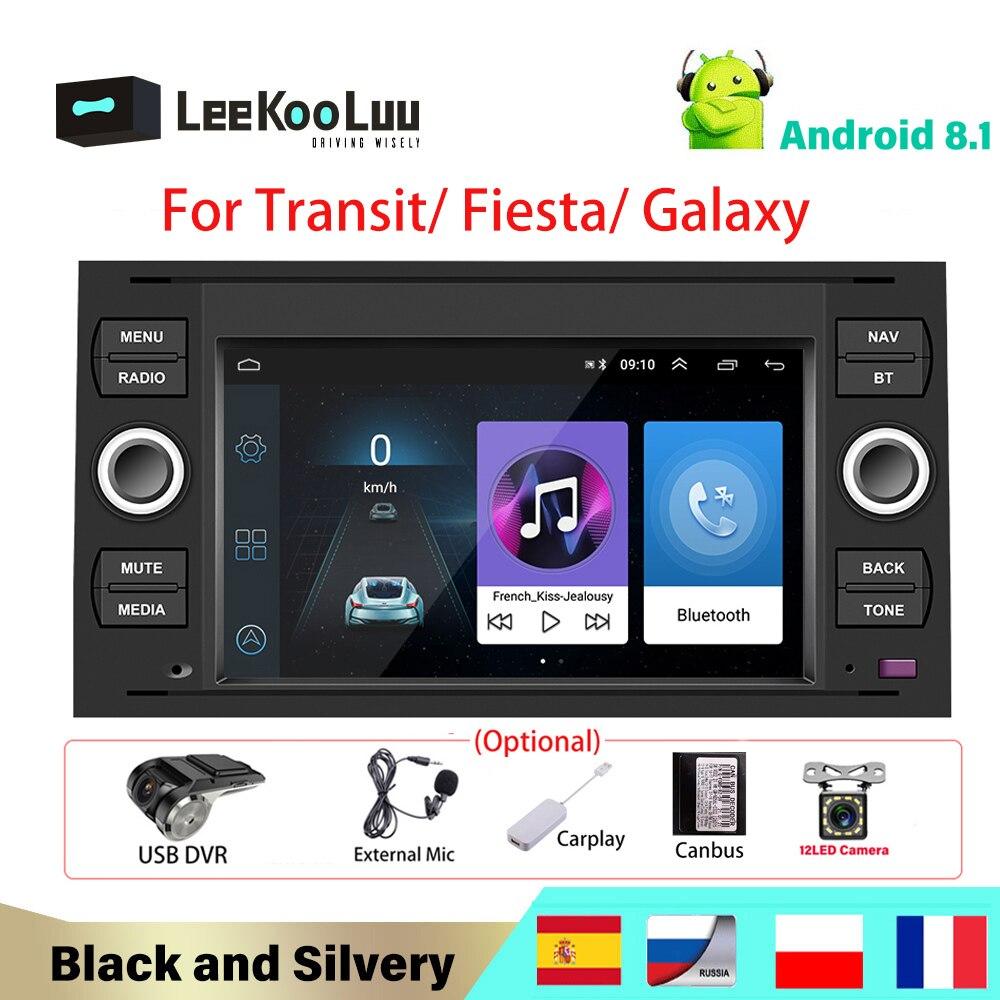 LeeKooLuu 2Din Car Radio Android Car Radio GPS Navigation Multimedia Player For Ford Focus 2 Mondeo S C Max Kuga Fiesta Fusion